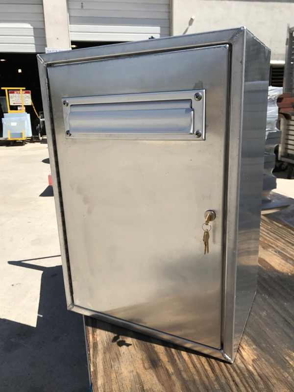 All County Sheet Metal custom aluminum mailbox we fabricated from metal for a customer in Lake Worth FL.
