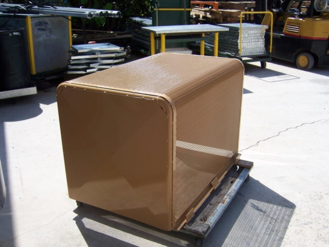 Sheet Metal and Perforated Metal powder coated pump cover in Palm Beach