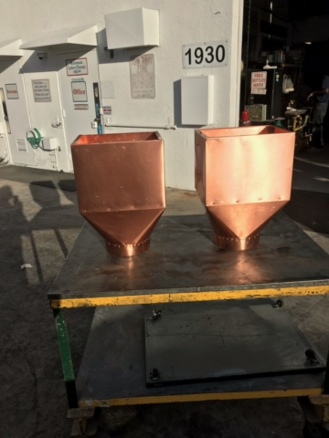 copper sheet metal conductor side view