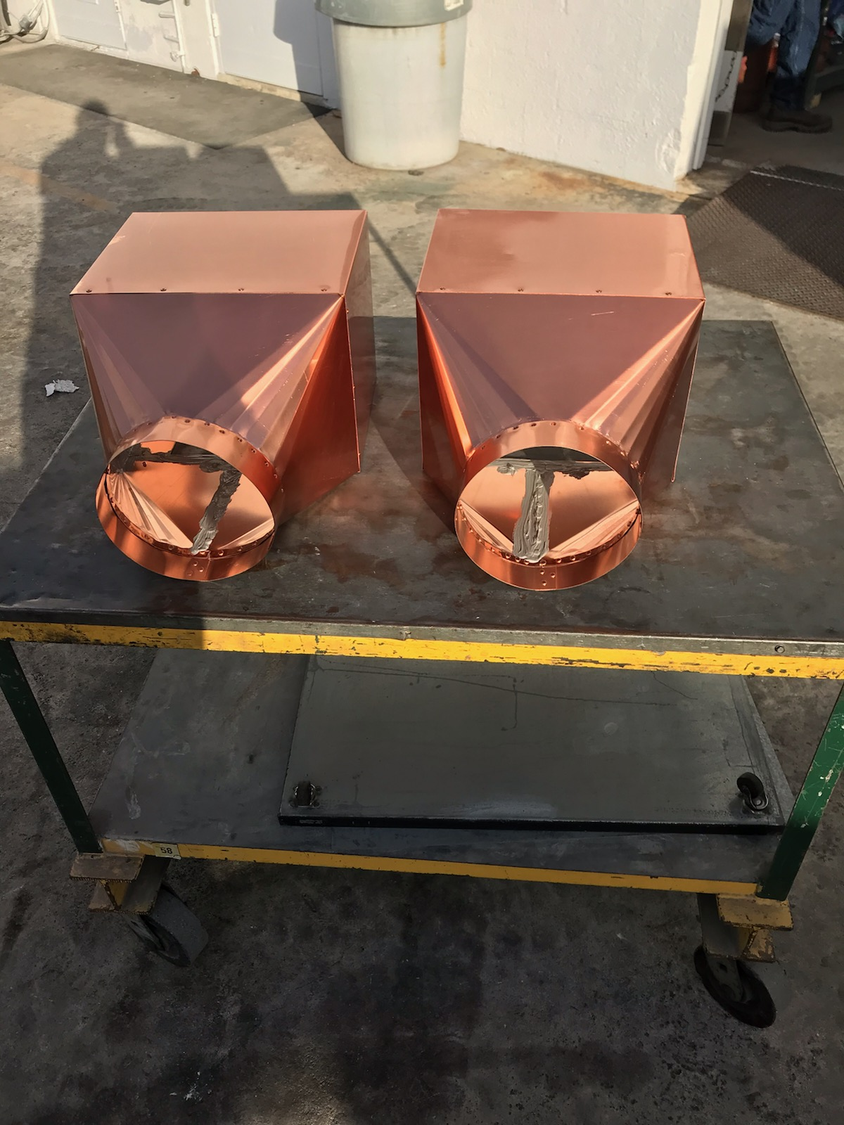 copper sheet metal conductor left view