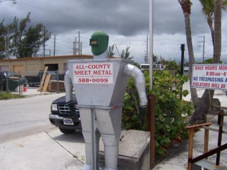 Custom tin man from  sheet metal couplings all county sheet metal