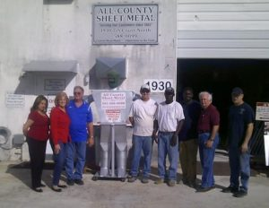 Lake Worth Sheet Metal Company, All County, picture of the staff